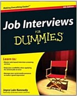 Job Interviews for Dummies (Paperback, 4, Revised)