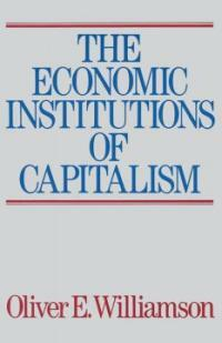 The Economic Intstitutions of Capitalism (Paperback)