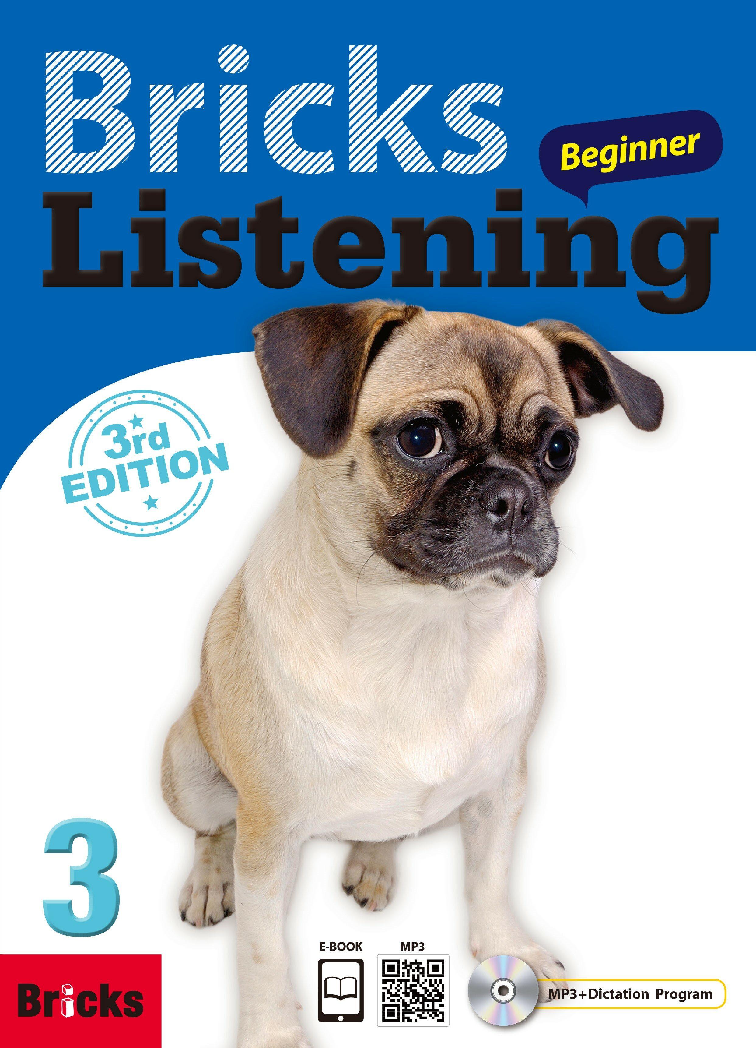 Bricks Listening 비기너 3 (Student Book + Work Book + QR + Dictation CD +  Eb, 3rd edition)