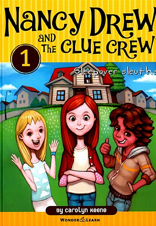 Nancy Drew and the Clue Crew 1 낸시드류와 클루크루 탐정단 1 : Sleepover Sleuths (영한대역판) (양장)