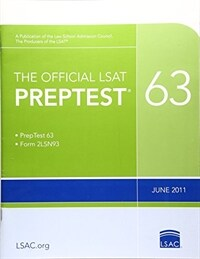 The Official LSAT Preptest 63: (june 2011 LSAT) (Paperback)