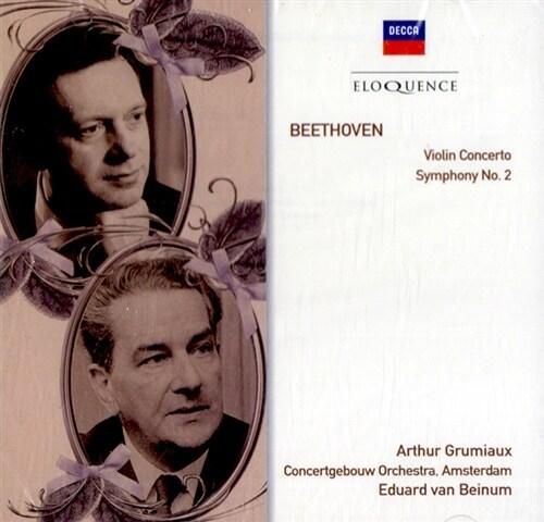 [수입] 베토벤 : 바이올린 협주곡 & 교향곡 2번