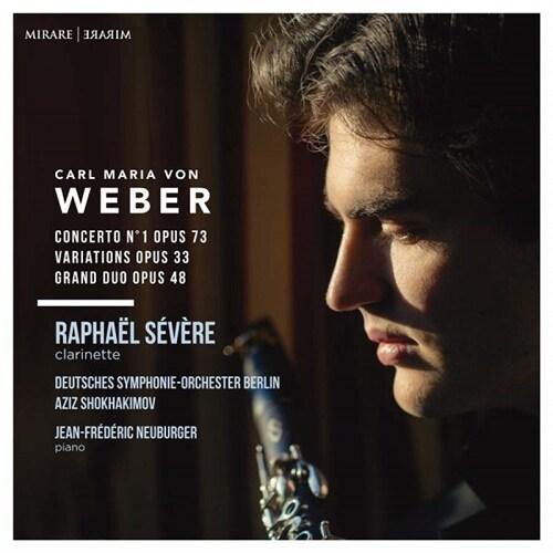 [수입] 베버 : 클라리넷 협주곡 1번, 변주곡 Op.33, 그랜드 듀오 Op.48