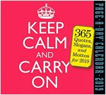 Keep Calm and Carry on Page-A-Day Calendar 2019 (Daily)