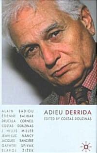 Adieu Derrida (Hardcover)
