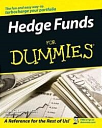 Hedge Funds for Dummies (Paperback)