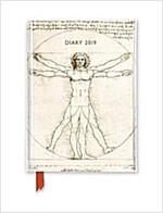 Leonardo Da Vinci Vitruvian Man pocket diary 2019 (Diary, New ed)