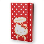Moleskine Limited Edition Hello Kitty Notebook, Red, Plain, Large (5 X 8.25) (Hardcover)