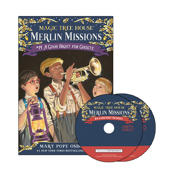 Merlin Mission #14 : A Good Night for Ghosts (Paperback + CD )