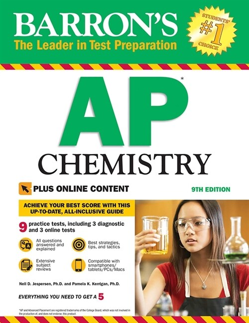 Barrons AP Chemistry with Online Tests (Paperback, 9)