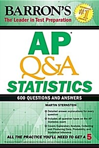 [중고] AP Q&A Statistics: With 600 Questions and Answers (Paperback)