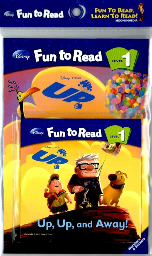 Disney Fun to Read 1 : Up, Up, and Away! (Paperback + Workbook + Audio CD)