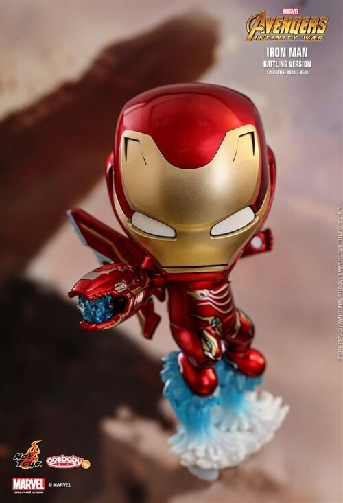 [Hot Toys] 코스베이비 아이언맨(배틀 버전) COSB462 - Iron Man (Battling Version) Cosbaby (S) Bobble-Head