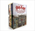 Harry Potter: Illustrated Collection Books 1-3 Boxsed Set (Hardcover 3권, 미국판)