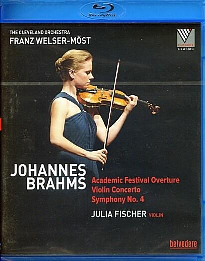 [수입] [블루레이] 브람스: 대학축전 서곡, 바이올린 협주곡 & 교향곡 4번