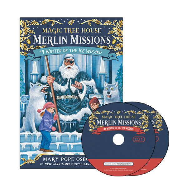 Merlin Mission #4 : Winter of the Ice Wizard (Paperback + CD )