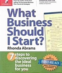 What Business Should I Start?: 7 Steps to Discovering the Ideal Business for You (Paperback)