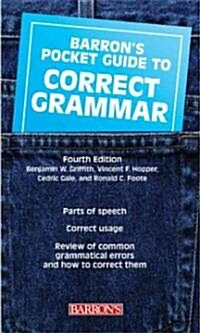 Barrons Pocket Guide to Correct Grammar (Paperback, 4)