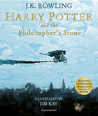 Harry Potter and the Philosophers Stone : Illustrated Edition (Paperback, Full Color 포스터 포함)