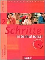 Schritte international 2. Kursbuch + Arbeitsbuch mit Audio-CD zum Arbeitsbuch und interaktiven Ubungen (Paperback)