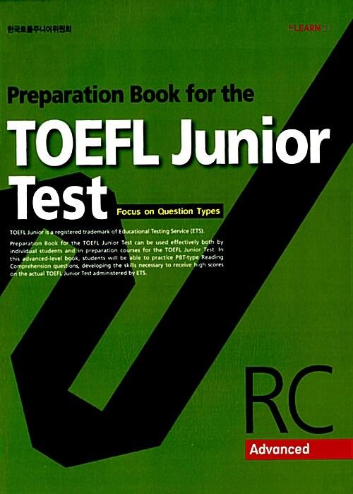 Preparation Book for the TOEFL Junior Test RC Advanced