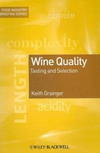 Wine quality : tasting and selection