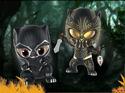 [Hot Toys] 코스베이비 블랙펜서&에릭 킬몽거 COSB488 - Black Panther and Erik Killmonger Cosbaby (S) Bobble-Head Collectible Set