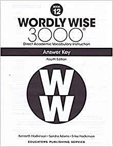 (4판)Wordly Wise 3000: Answer Key 12 (Paperback, 4th Edition)