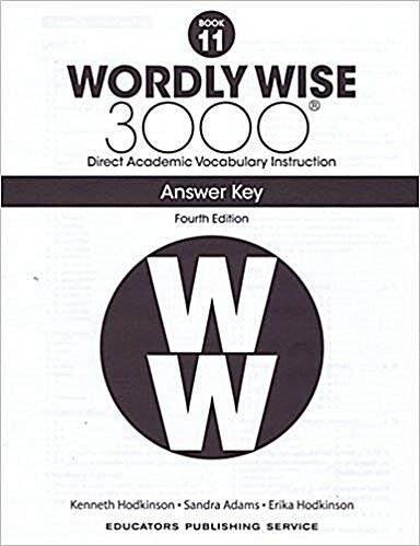 (4판)Wordly Wise 3000: Answer Key 11 (Paperback, 4th Edition)