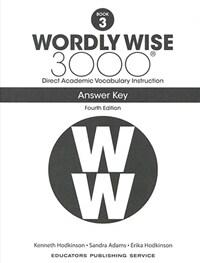 (4판)Wordly Wise 3000: Answer Key 3 (Paperback, 4th Edition)