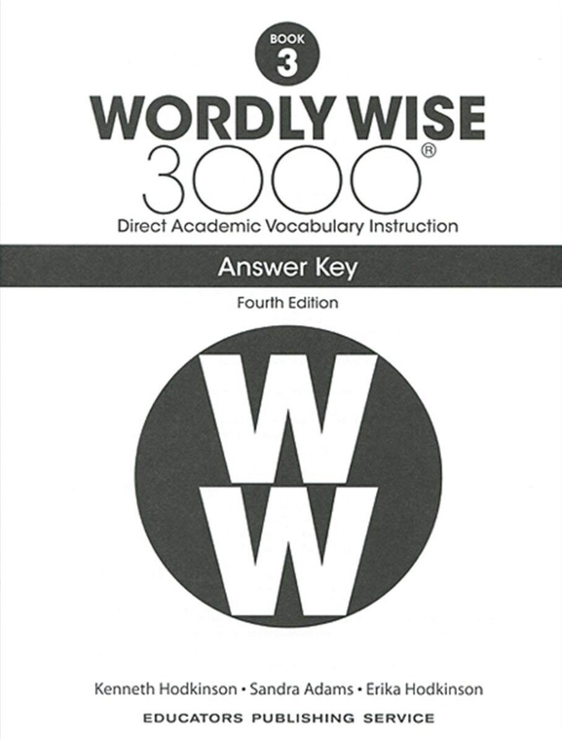 (4판)Wordly Wise 3000: Answer Key 3 (Paperback, 4th Edition)