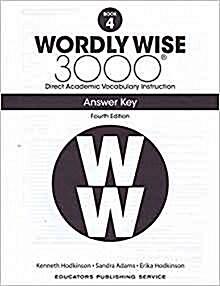 (4판)Wordly Wise 3000: Answer Key 4 (Paperback, 4th Edition)
