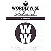 (4판)Wordly Wise 3000: Answer Key 8 (Paperback, 4th Edition)
