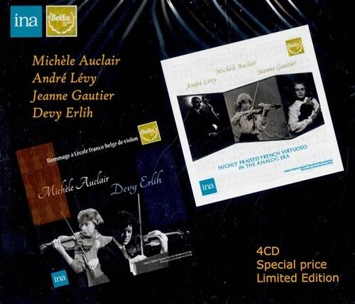 [수입] 미셸 오클레르, 드비 에를리히, 앙드레 레비의 미공개 레코딩 합본반 [4CD]