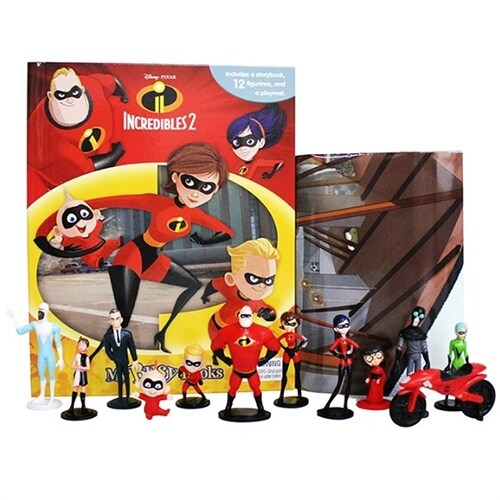 My Busy Books : Disney Incredibles 2 디즈니 인크레더블 2 비지북 (피규어 10개 포함)