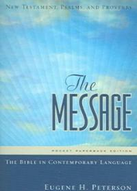 Message Pocket New Testament Psalms and Proverbs-MS (Paperback)
