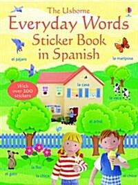 Everyday Words Sticker Book in Spanish (Paperback)