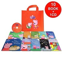 페파피그 Peppa Pig : Orange Bag (10 books & 1 CD)