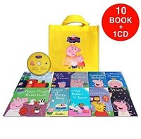 페파피그 Peppa Pig : Yellow Bag (10 books + 1 CD)