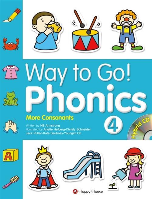 Way to Go! Phonics 4 (본책 + 워크북 + 하이브리드 CD 2장)