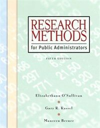 Research methods for public administrators 5th ed