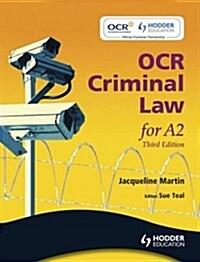 OCR Criminal Law for A2 (Paperback)