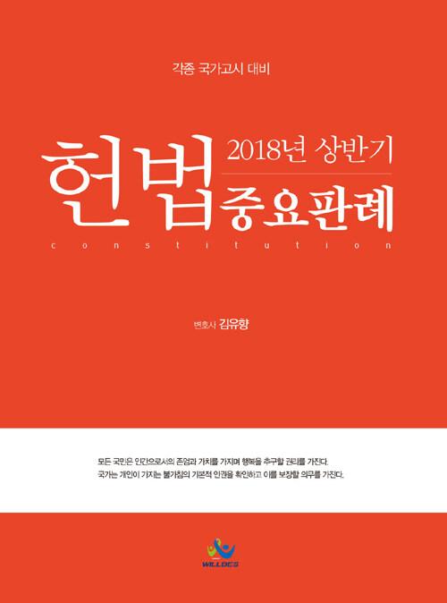 헌법중요판례. 2018년 상반기