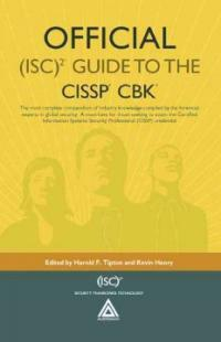 Official (ISC)² guide to the CISSP CBK