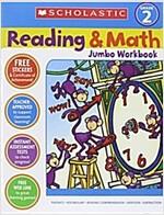 [중고] Reading & Math Jumbo Workbook: Grade 2 (Paperback)