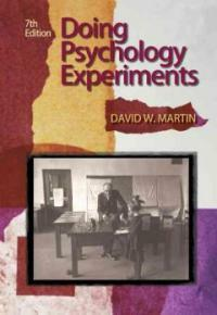 Doing psychology experiments 7th ed
