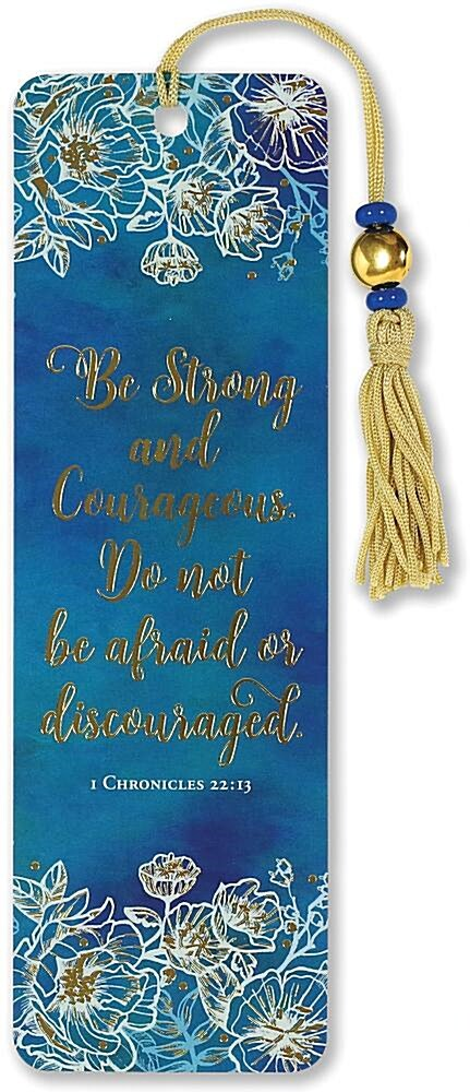 Be Strong and Courageous Beaded Bookmark (Other)