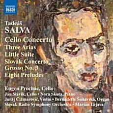 [수입] 살바 : 첼로협주곡, 슬로박 콘체르토 그로소, 첼로를 위한 모음곡 외