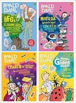 Roald Dahl's Sticker Book Collection : 로알드달 스티커북 세트 (4 books)