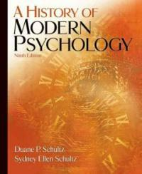 A history of modern psychology 9th ed